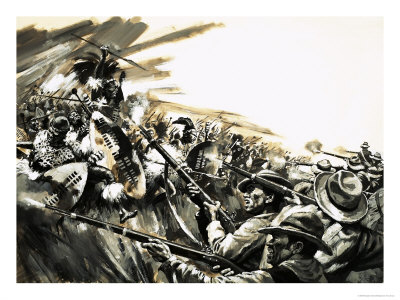 unidentified-battle-with-zulu-warriors-possibly-roarkes-drift